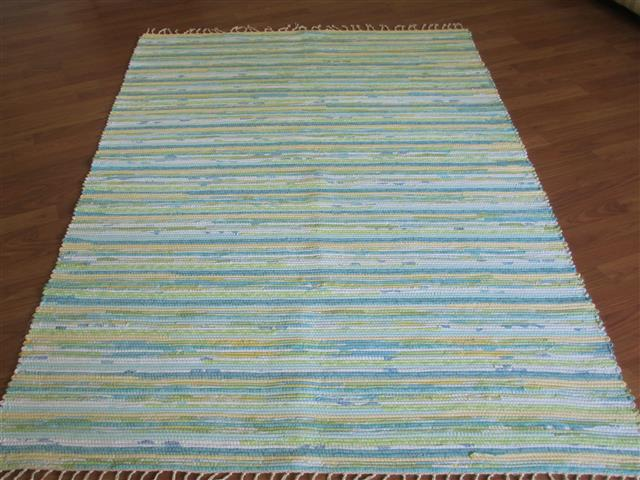 Aqua, Green, Yellow 4 x 6 ft. Area Rug