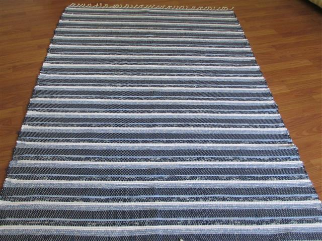 Navy, White, Blue 4 x 6 ft. Area Rug