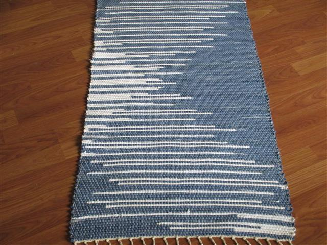 Navy, White 2 x 3 ft. Kitchen And Bath Rug