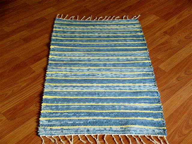 Navy, Yellow 2 x 3 ft. Kitchen And Bath Rug