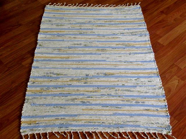 Navy, Ivory, Blue, Yellow 2½ x 3½ ft. Kitchen And Bath Rug