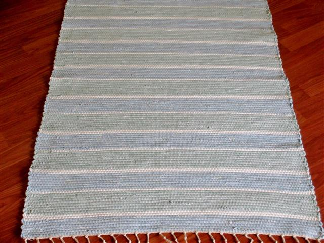 Green, Blue, White 2½ x 3½ ft. Kitchen And Bath Rug