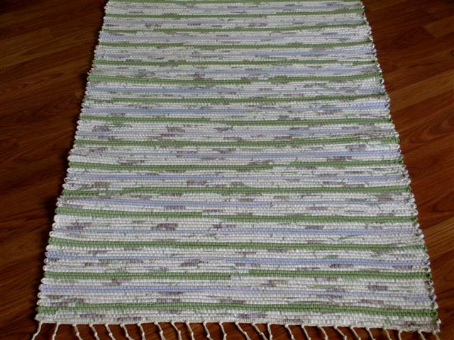 Lilac, Green, White 2½ x 3½ ft. Kitchen And Bath Rug