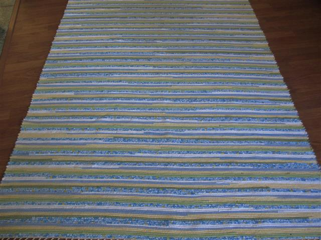 Blue, Green, Yellow, White 5 x 8 ft. Area Rug