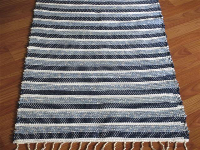 Navy, Blue, White 2 x 3 ft. Kitchen And Bath Rug