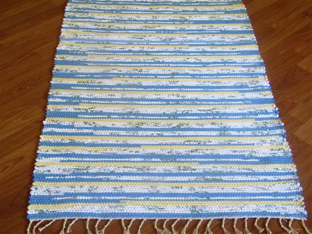 Blue, Yellow, White 2½ x 3½ ft. Kitchen And Bath Rug