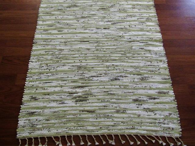 Green, White, Cocoa 2½ x 3½ ft. Kitchen And Bath Rug
