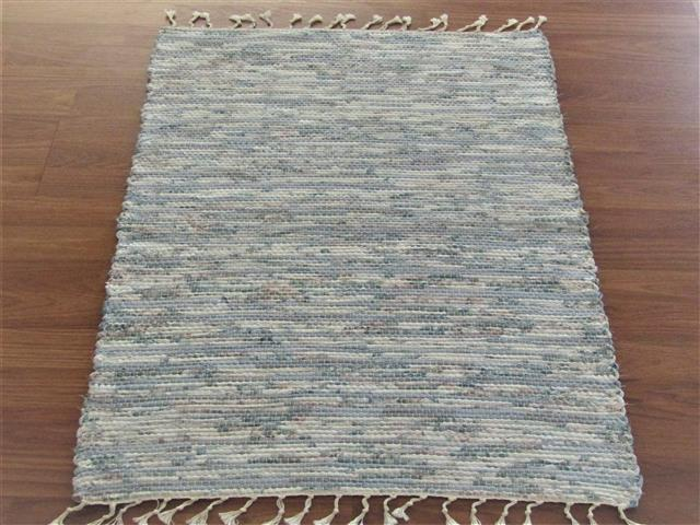 Blue, White, Rose 2 x 3 ft. Kitchen And Bath Rug