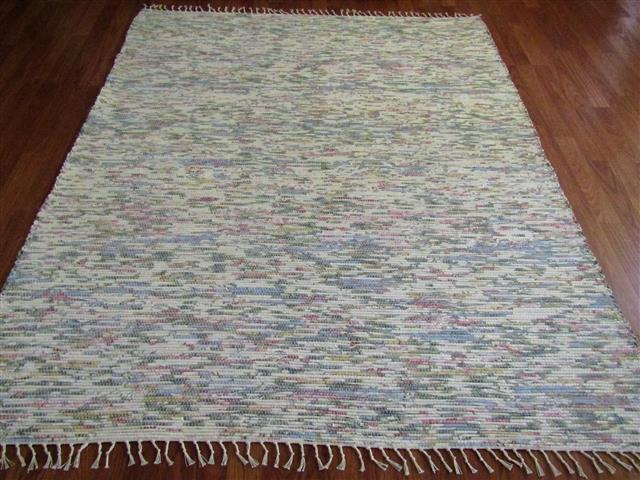 Blue, Rose, White 5 x 8 ft. Area Rug