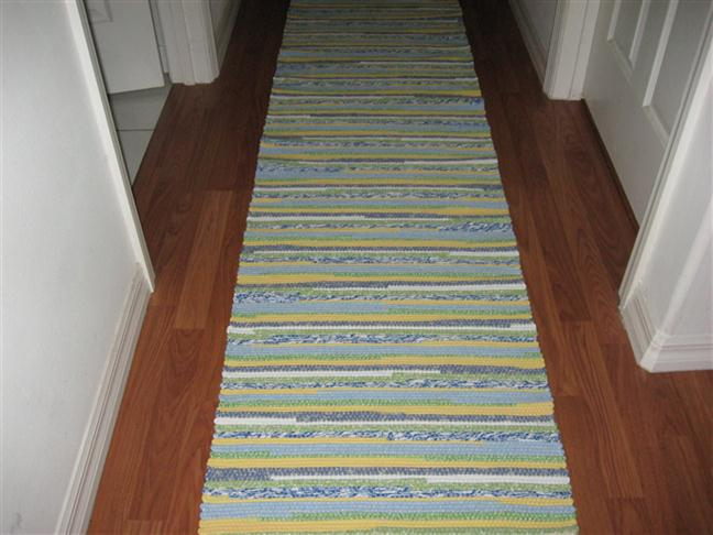 Blue, Yellow, Green, White Runner