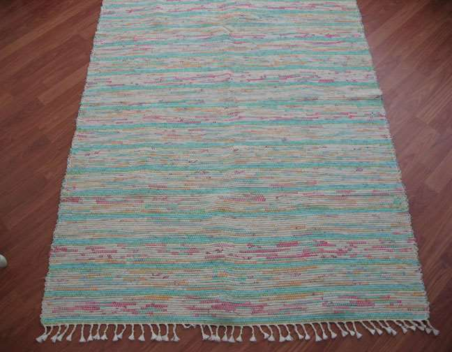 Aqua, Pink, Gold 4 x 6 ft. Area Rug