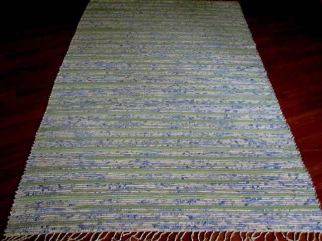 Lilac, Green 4 x 6 ft. Area Rug