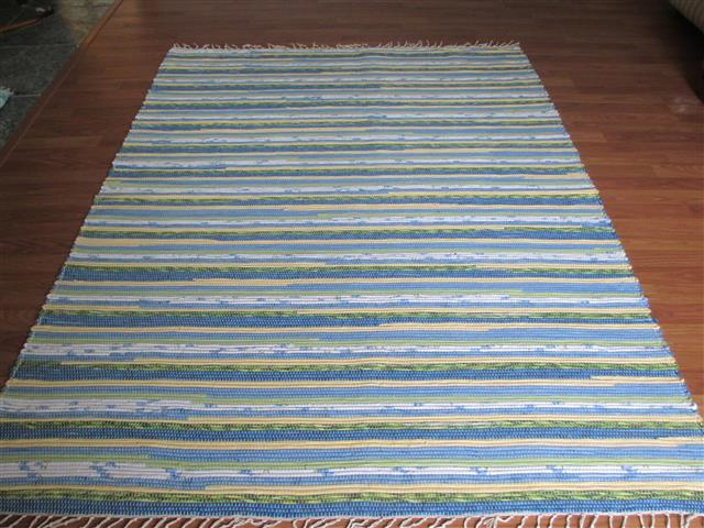 Blue, Yellow, Green 5 x 8 ft. Area Rug