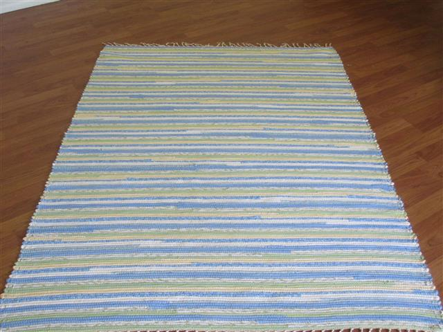 Blue, Yellow, Green, White 4 x 6 ft. Area Rug