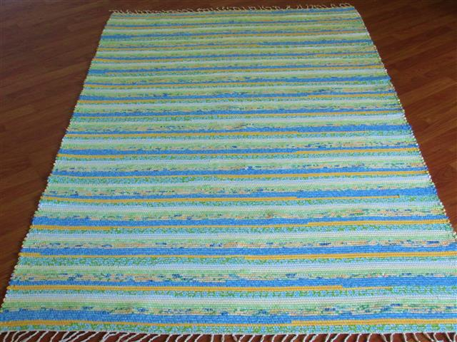 Blue, Yellow, Green 4 x 6 ft. Area Rug