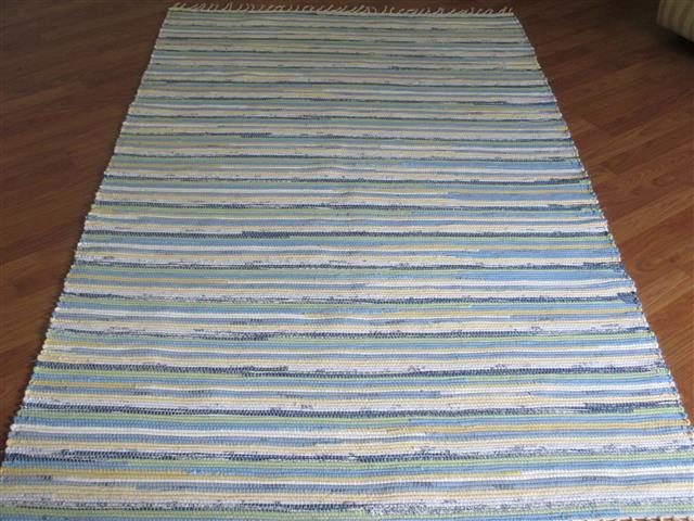 Yellow, Blue, Green 4 x 6 ft. Area Rug