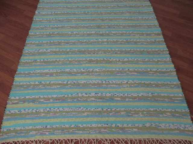 Aqua, Green 4 x 6 ft. Area Rug
