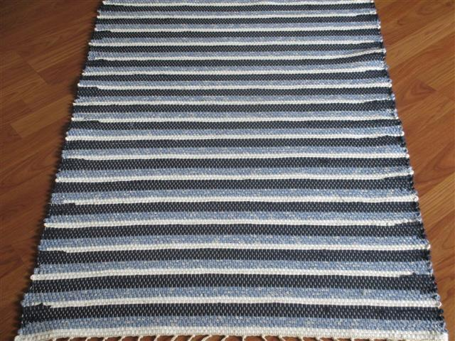 Navy, Blue, White 2½ x 3½ ft. Kitchen And Bath Rug