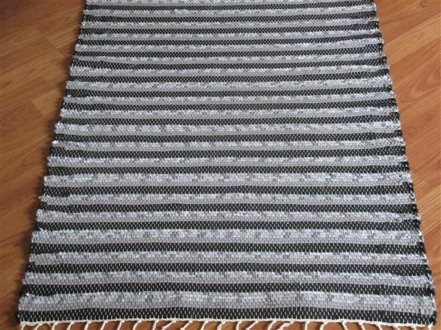 Black, Grey 2½ x 3½ ft. Kitchen And Bath Rug
