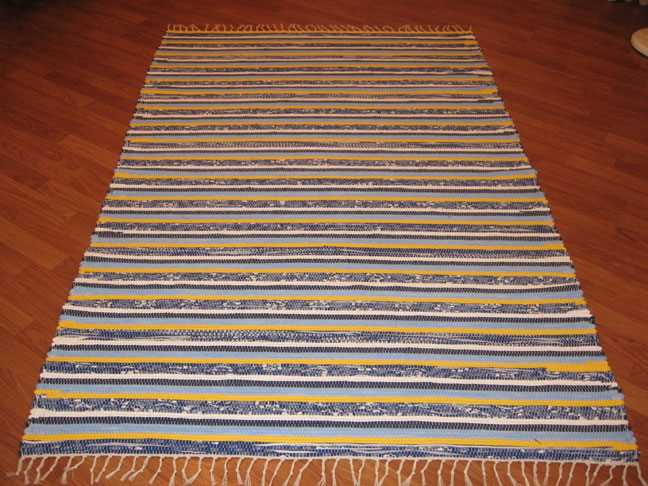 Blue, Yellow, White 4 x 6 ft. Area Rug