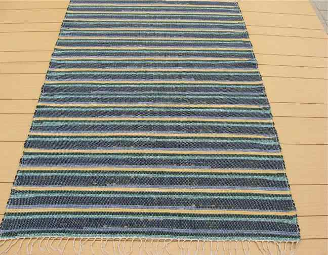 Navy, Yellow, Blue 4 x 6 ft. Area Rug