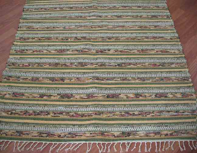 Green, Gold, Sage 4 x 6 ft. Area Rug