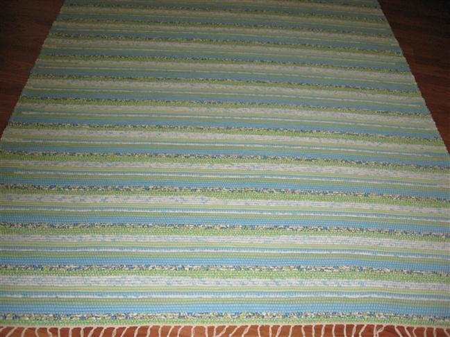Aqua, Green, White 5 x 8 ft. Area Rug