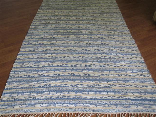 Blue, White, Yellow 5 x 8 ft. Area Rug