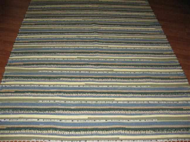 Green, Denim, Beige 5 x 8 ft. Area Rug
