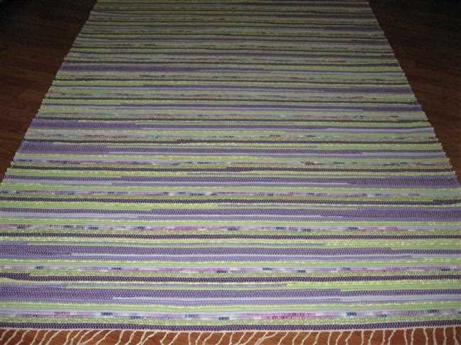 Purple, Green 5 x 8 ft. Area Rug