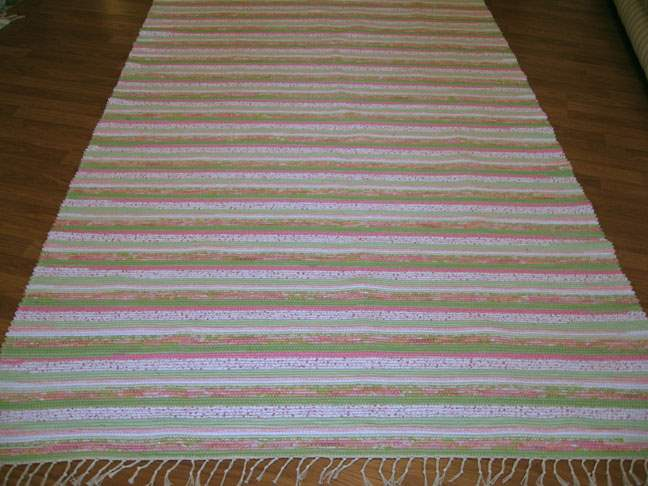 Green, Pink, White 5 x 8 ft. Area Rug
