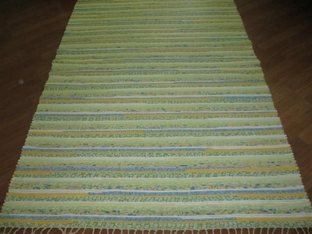 Yellow, White, Blue, Green 4 x 6 ft. Area Rug