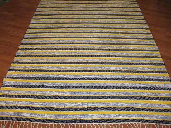 Navy, Blue, Yellow 5 x 8 ft. Area Rug