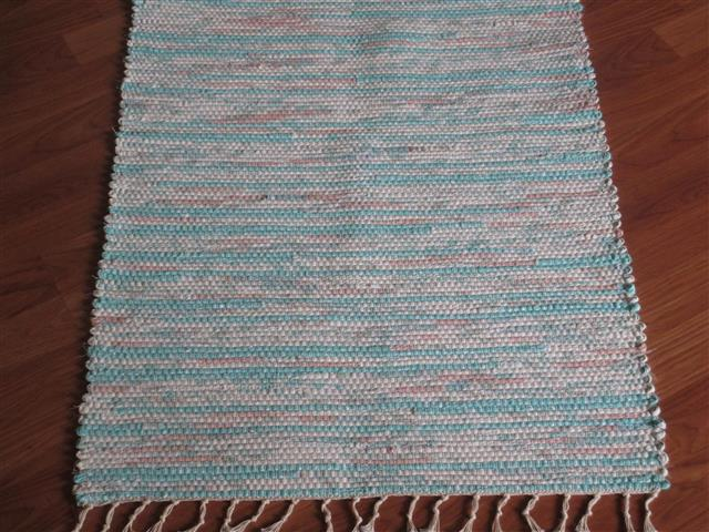 Aqua, White, Apricot 2 x 3 ft. Kitchen And Bath Rug