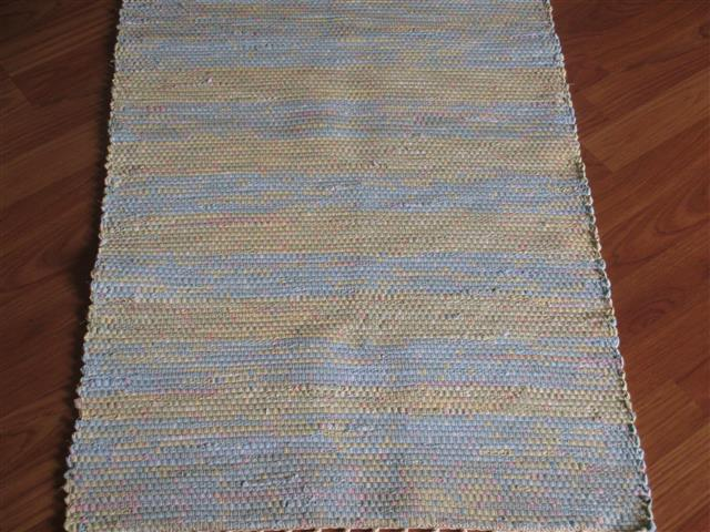 Blue, Gold 2 x 3 ft. Kitchen And Bath Rug
