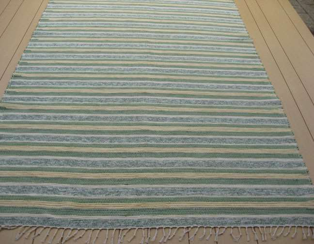 Green, Yellow, Ivory 5 x 8 ft. Area Rug