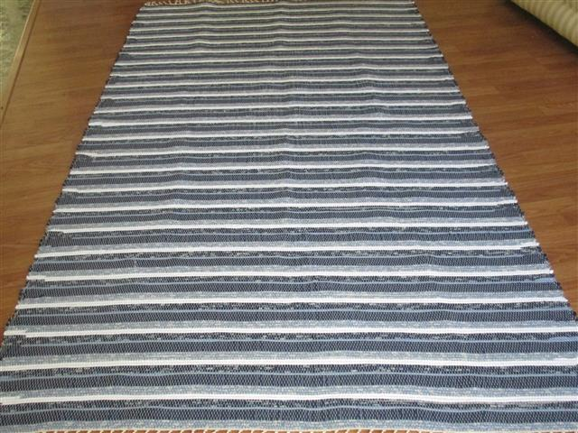 Navy, White, Blue 5 x 8 ft. Area Rug